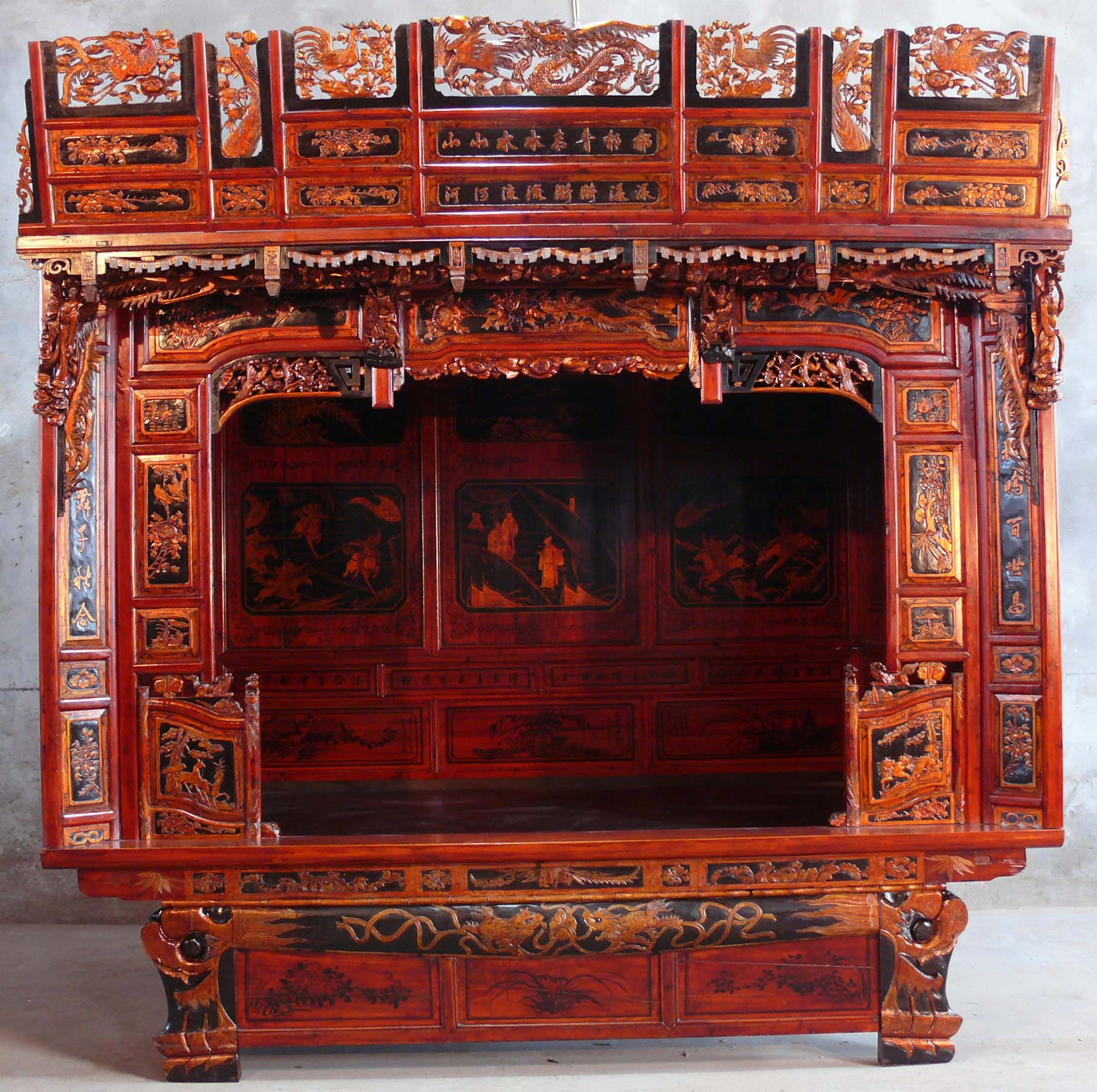 Chinese traditional beds for Oriental furniture for sale